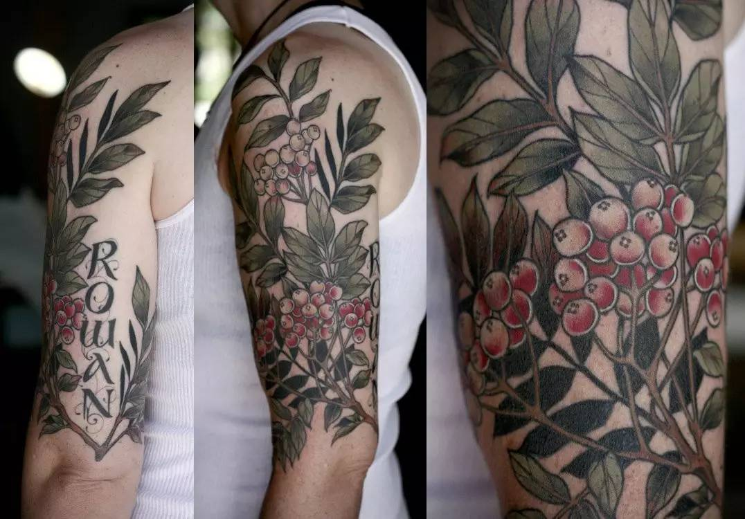 16+ Plant Tattoos On Half Sleeve