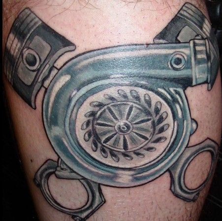 4+ Turbo Piston Tattoos
