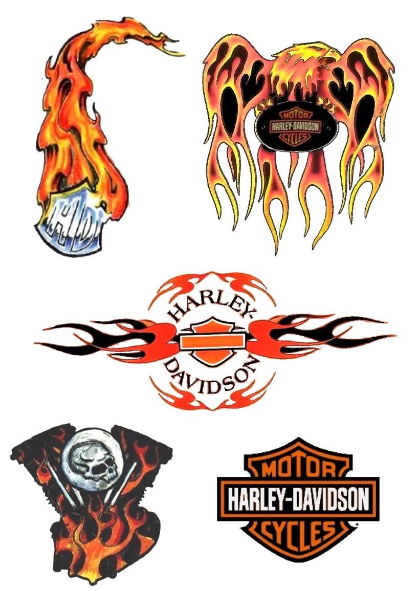 17 harley tattoo designs for Free harley davidson tattoo designs