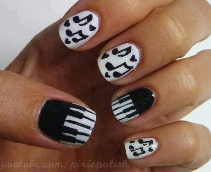 50 Best Music Nail Art Design Ideas
