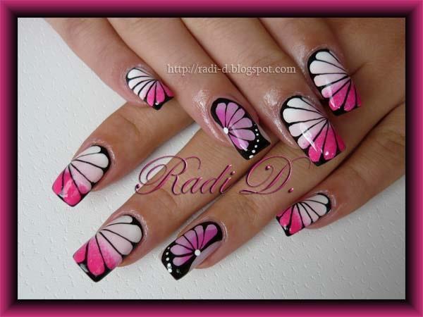 Nail Art Design Butterfly Step