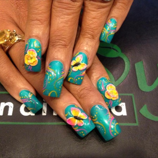 30+ Beautiful 3D Butterflies Nail Art Design Ideas