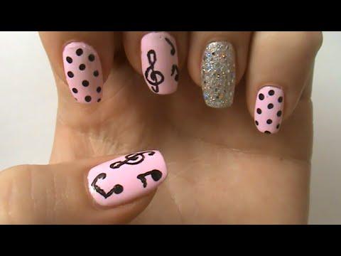 Musical Note Nail Art Design