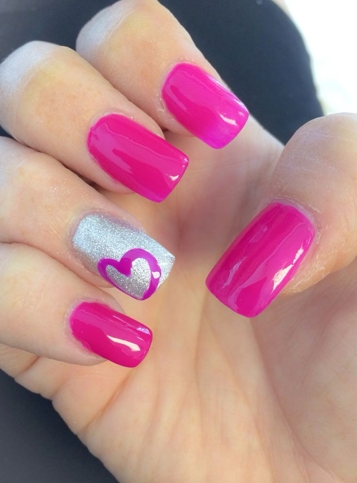 Pink Outline Heart Nail Art - 75 Most Stylish Pink Heart Nail Art Design  Ideas - - Nail Designs With Hearts Graham Reid