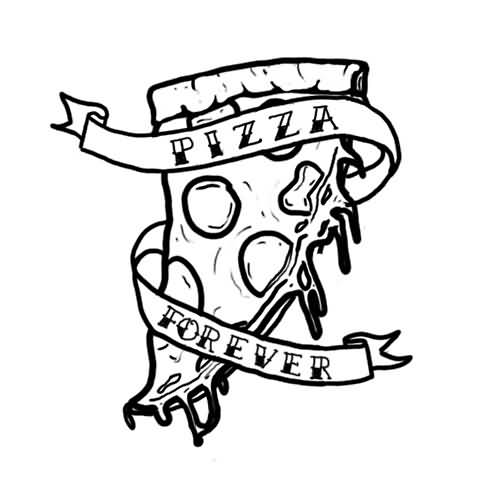 25 Pizza Tattoo Designs