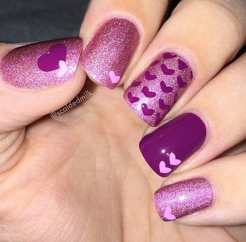 75 Most Stylish Pink Heart Nail Art Design Ideas