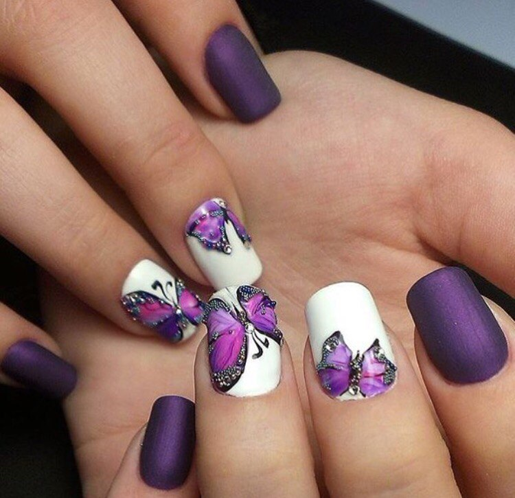 Butterfly Nail Designs Step By Step: 55+ Best Butterflies Nail Art Design Ideas For Trendy Girls