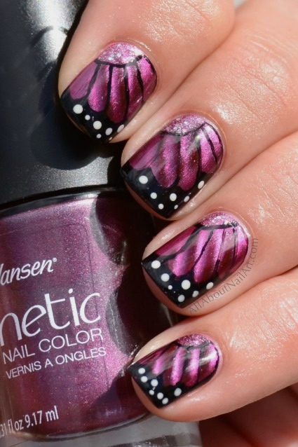 butterfly wing nail designs