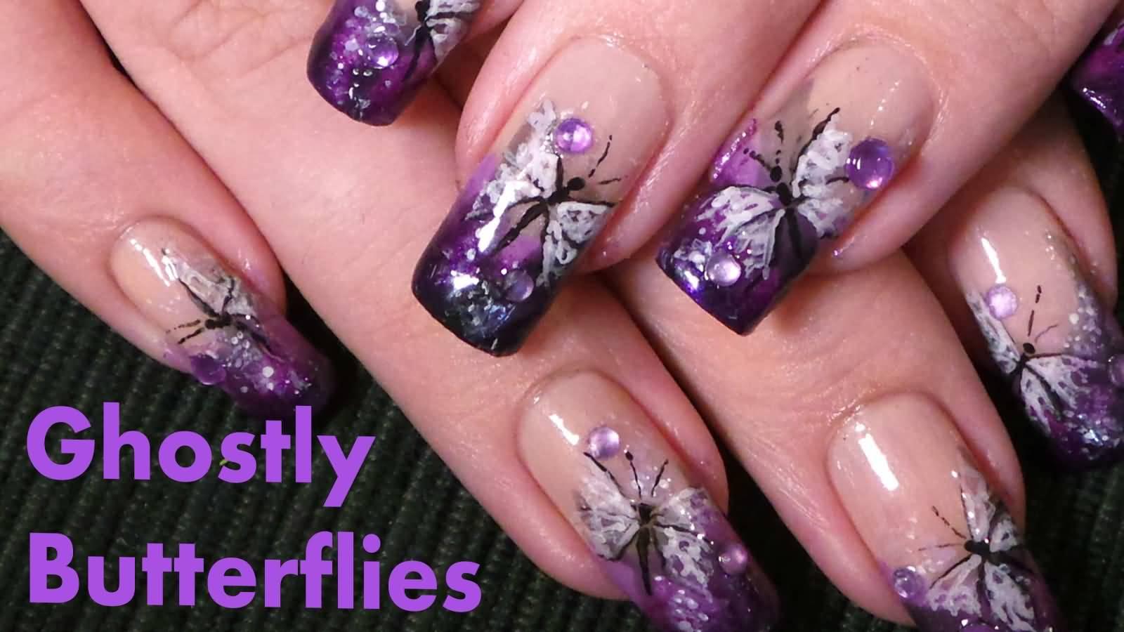 60 most beautiful butterfly nail art design ideas