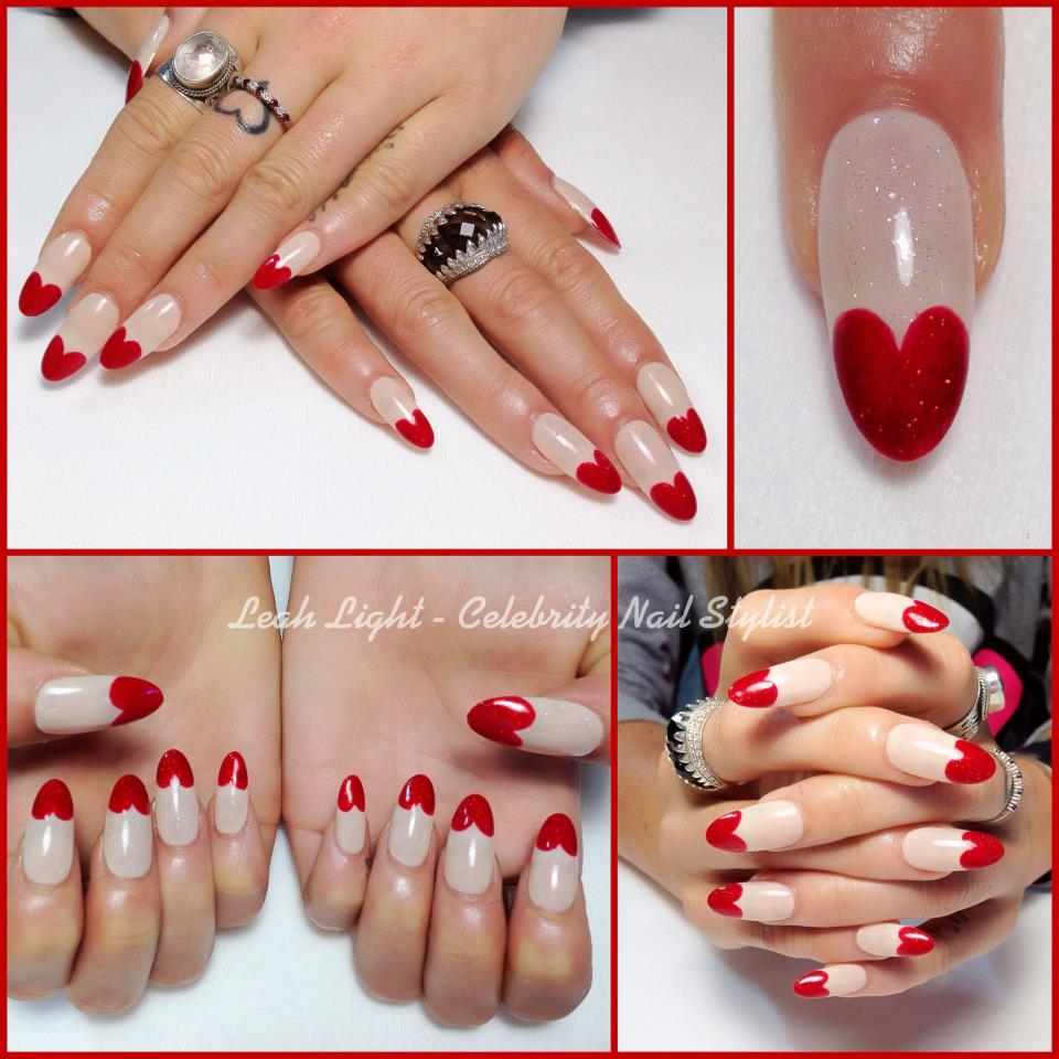 Heart Nail Art: 60+ Latest Red Heart Nail Art Design Ideas
