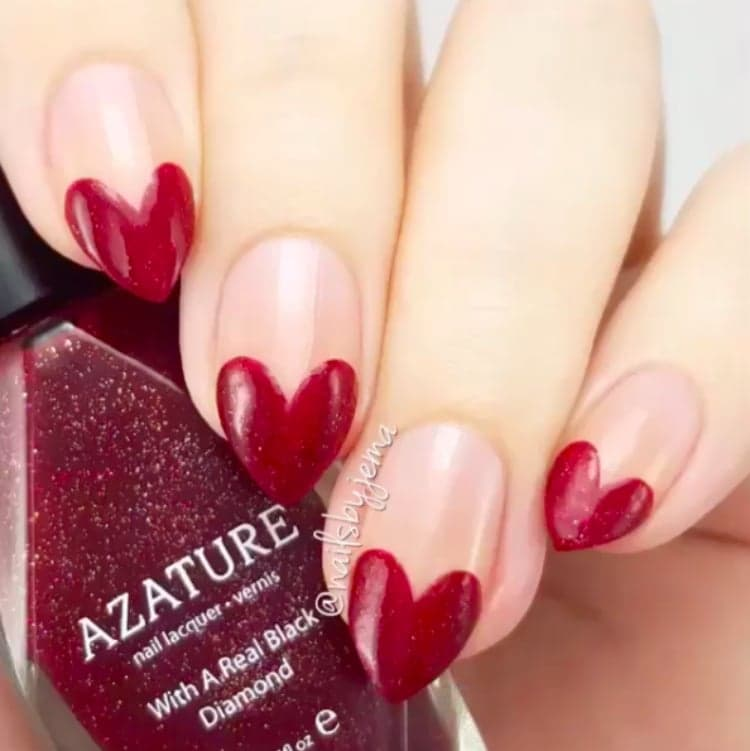 65+ Most Beautiful Heart Nail Art Design Ideas For Trendy