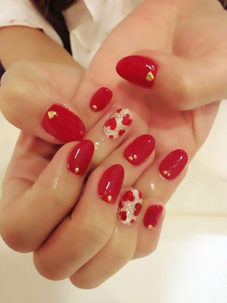 60 Latest Red Heart Nail Art Design Ideas