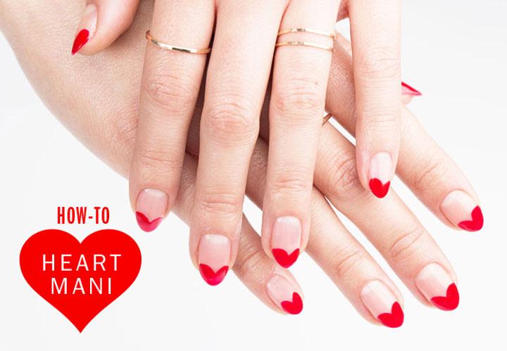 50+ Best Hearts Nail Art Design Ideas