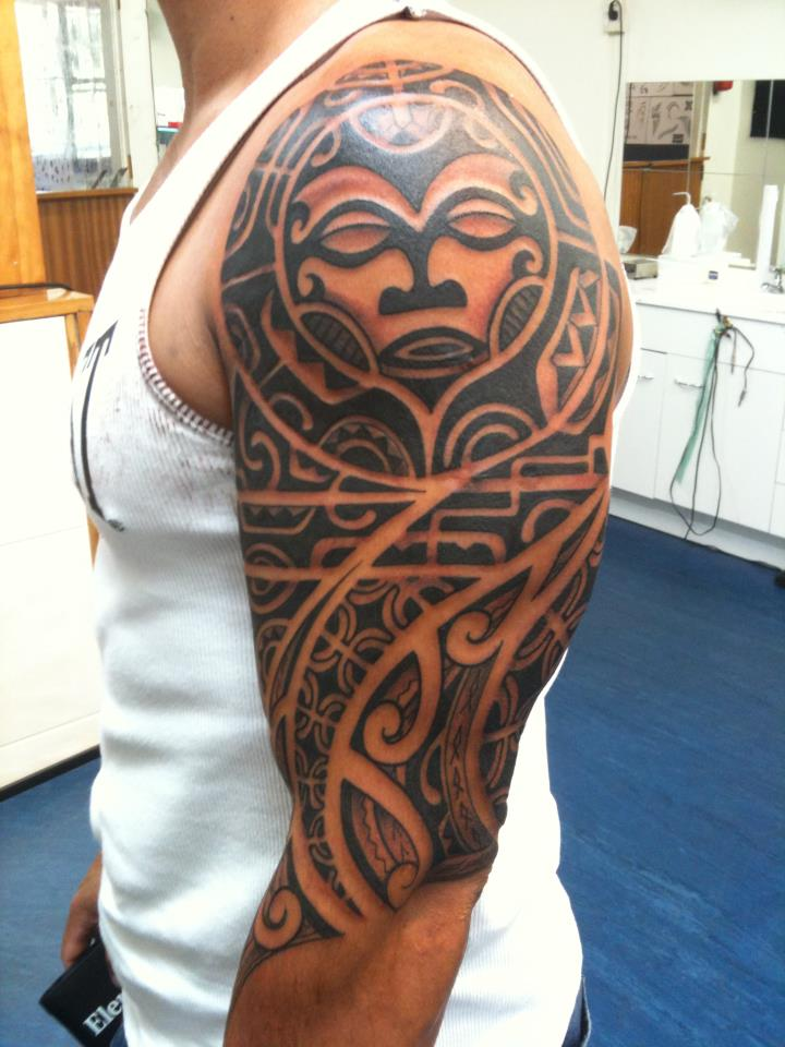Samoan tattoos for Polynesian sun tattoo