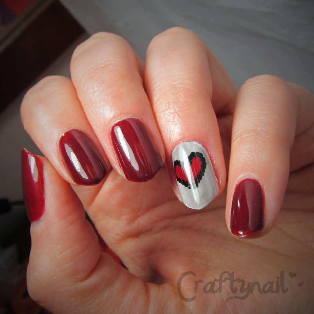 Heart Nail Art: 60+ Latest Heart Nail Art Designs