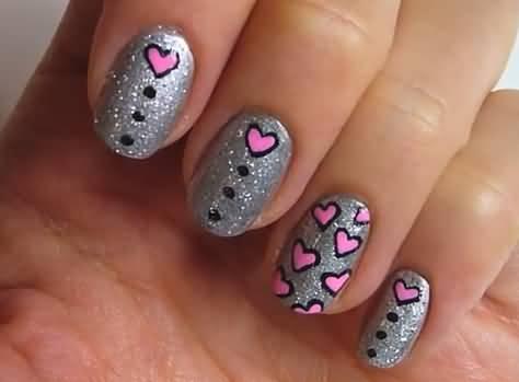 50 Best Hearts Nail Art Design Ideas