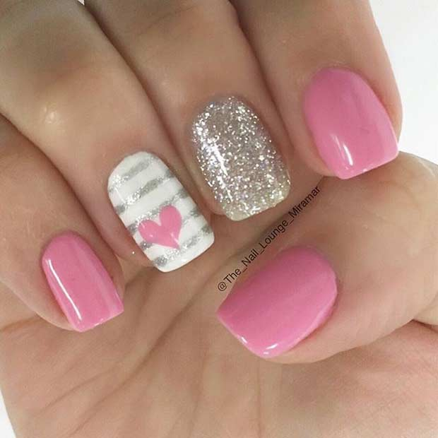 50 Best Hearts Nail Art Design Ideas