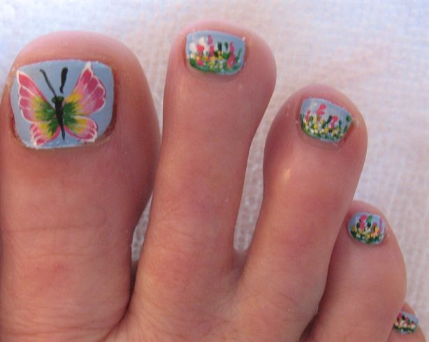 Erfly Toe Nail Designs Photo 16
