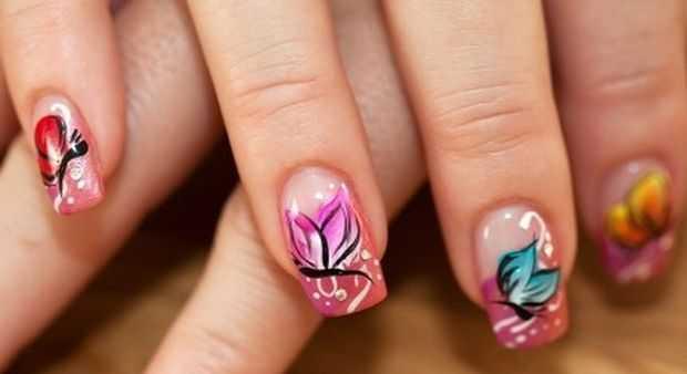 Stylish Erfly Nail Art Design Idea