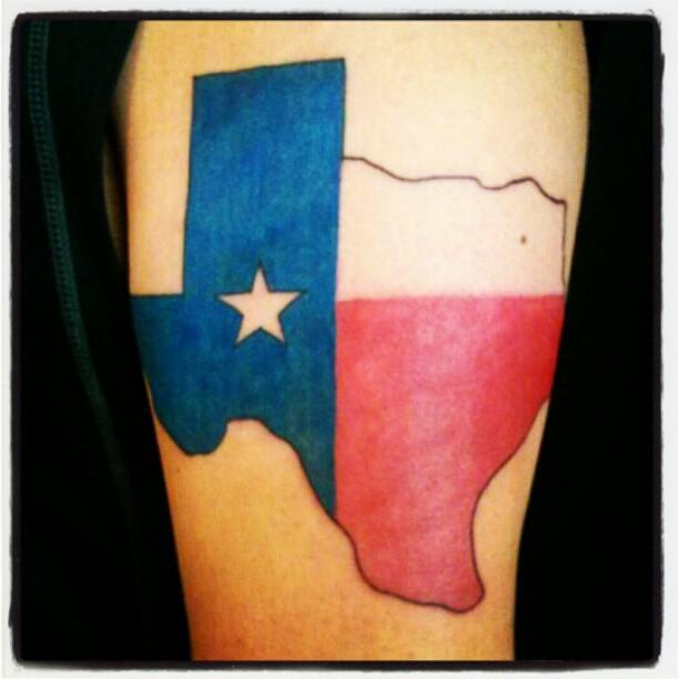 7 texas tattoo designs for Texas flag tattoo