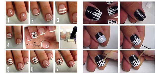 50 best music nail art design ideas two amazing music nail art tutorials prinsesfo Choice Image
