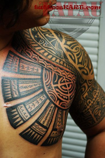 37 samoan tattoos on half sleeve