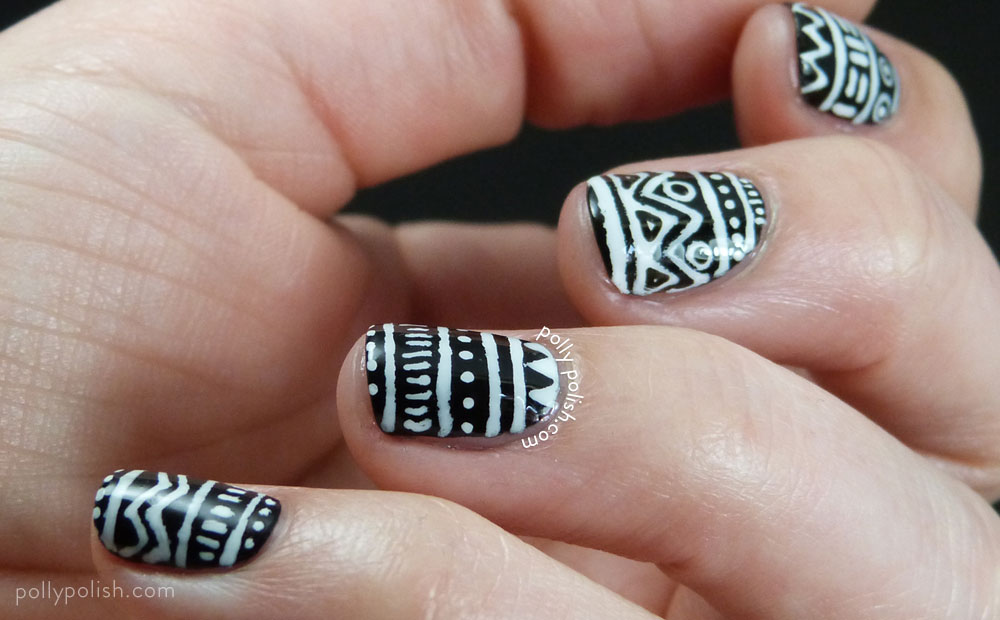 60 Latest Black And White Nail Art Design Ideas