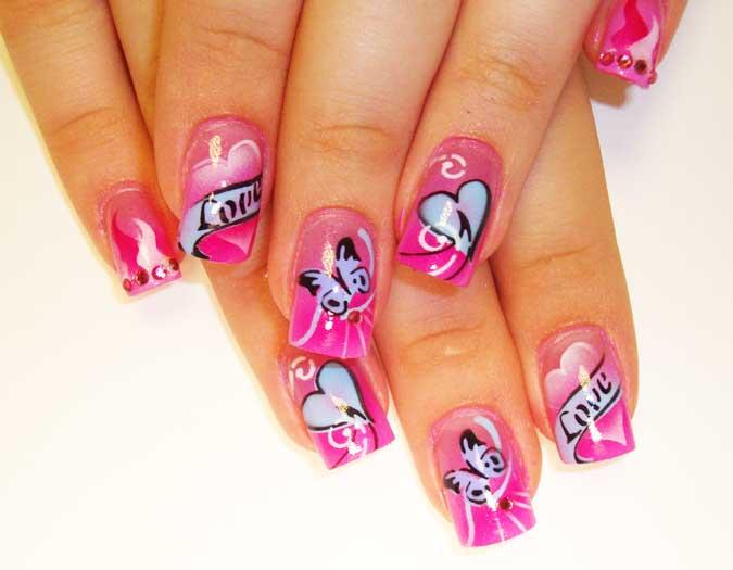 45+ Latest Heart Nail Art Designs For Trendy Girls