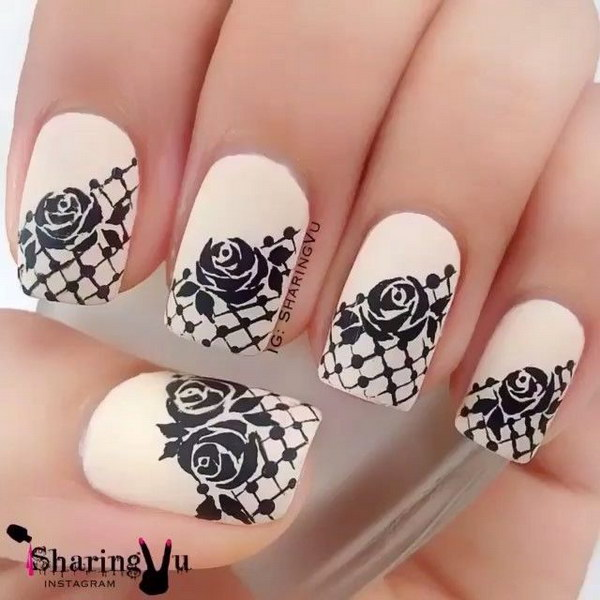 Nail Art Rose Designs Image Collections And Design Nails Images