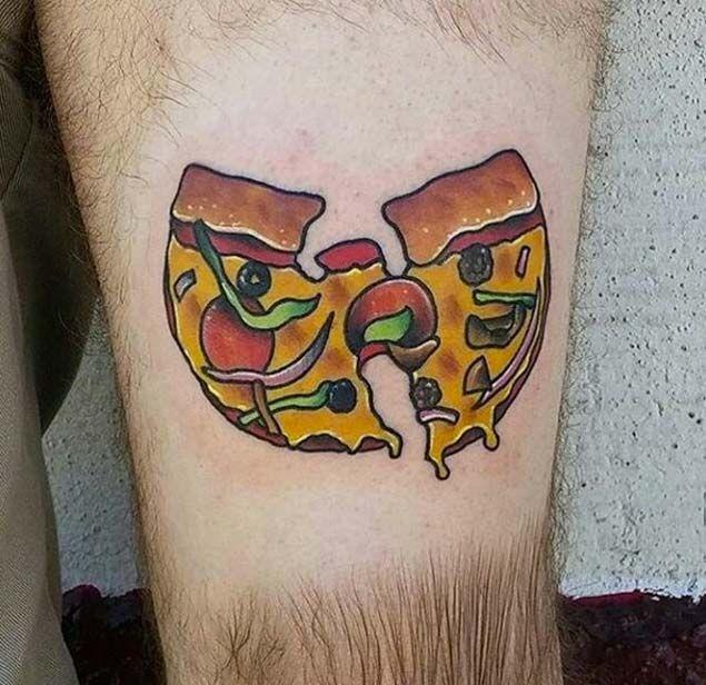 9fb66b74a Wu Tang Pizza Tattoo By Ry Tang