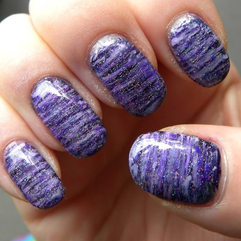 Amazing Purple And White Nail Art By Quixii