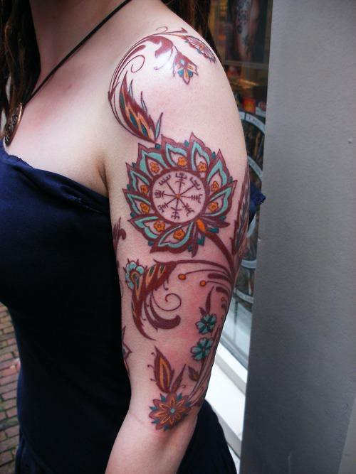 Paisley Pattern Tattoo Sleeve
