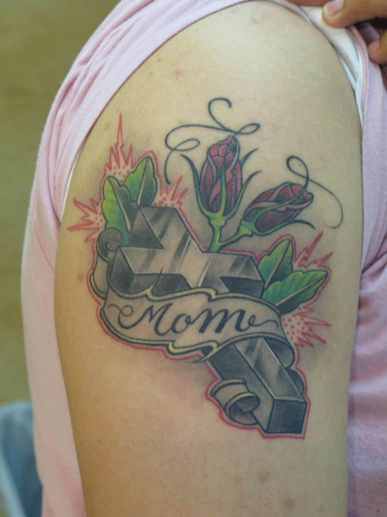 18 mom tattoos on shoulder for Memorial tattoos for mom