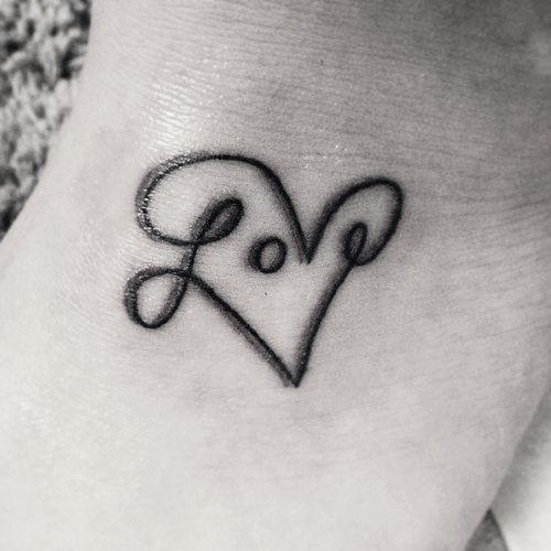 Awesome Tiny Love Heart Tattoo