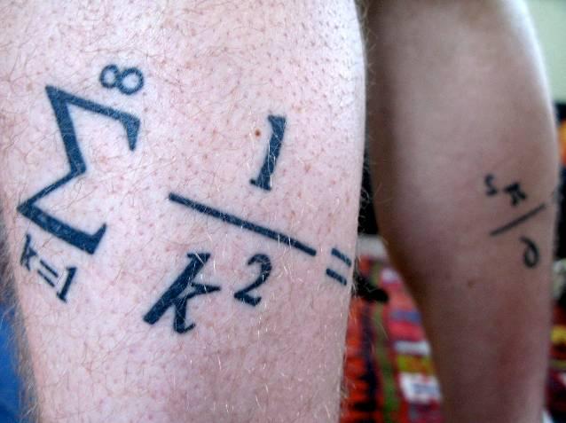 19+ Equation Tattoo Designs