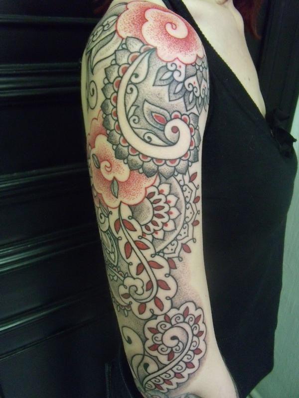 40 paisley pattern tattoos on sleeve for Beautiful half sleeve tattoos