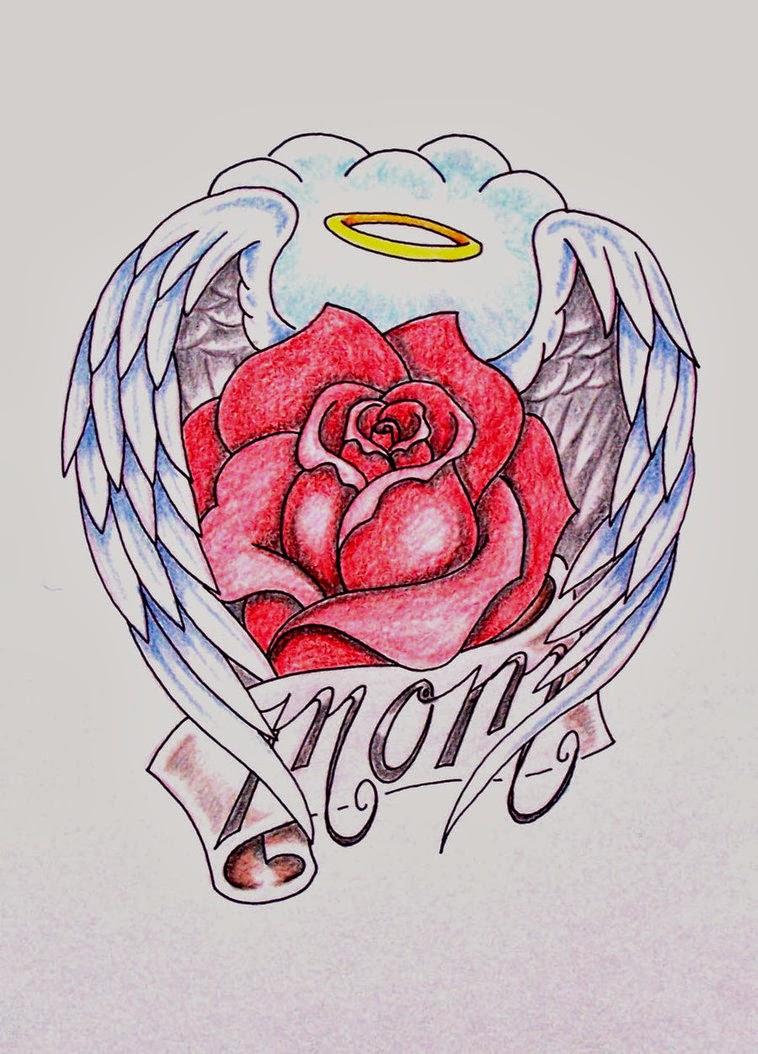 60 mom tattoos with rose. Black Bedroom Furniture Sets. Home Design Ideas