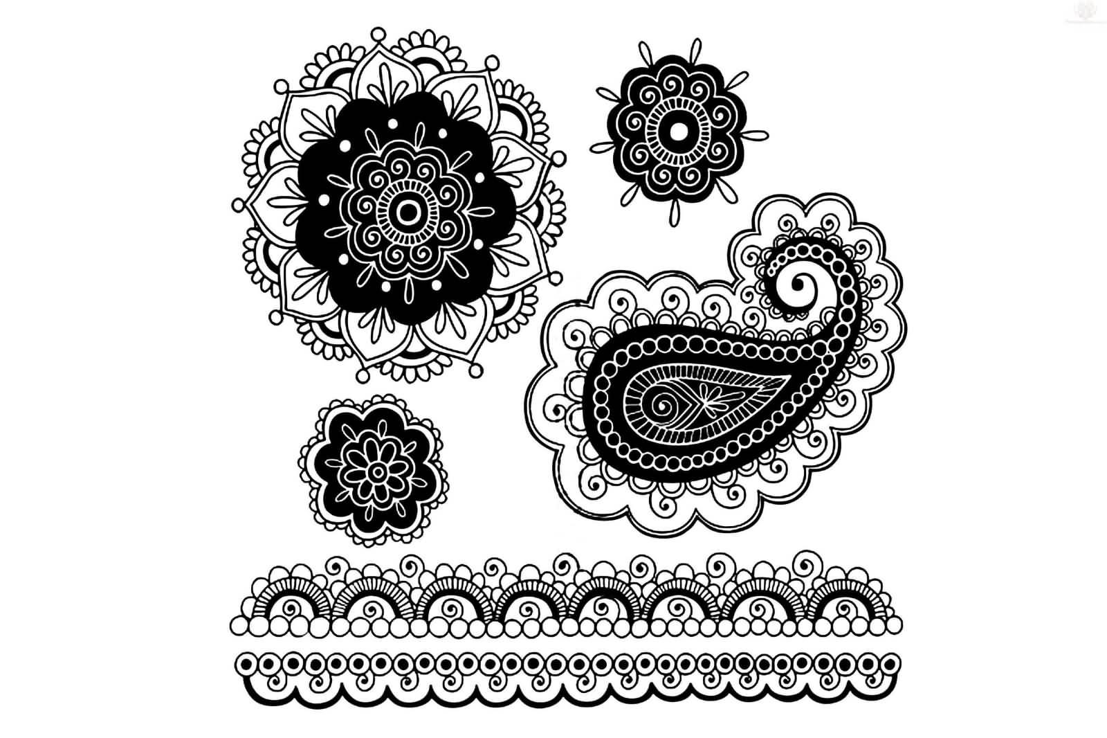 50 paisley pattern tattoos designs for Beautiful design tattoos