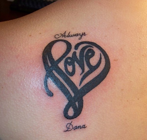 Tattoo Designs Heart With Names: 20+ Best Love Tattoos Ideas