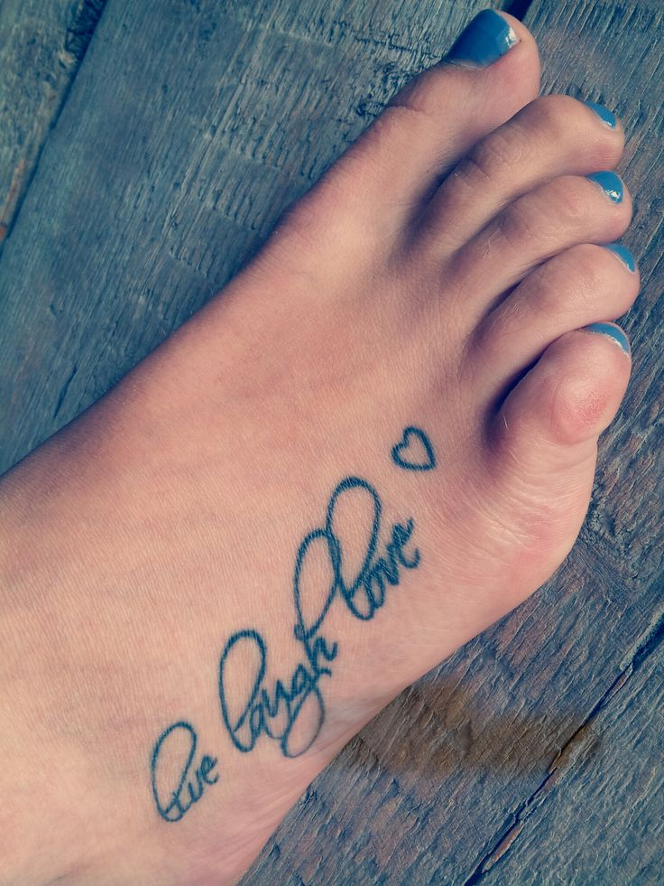 10 cute love tattoos for foot. Black Bedroom Furniture Sets. Home Design Ideas