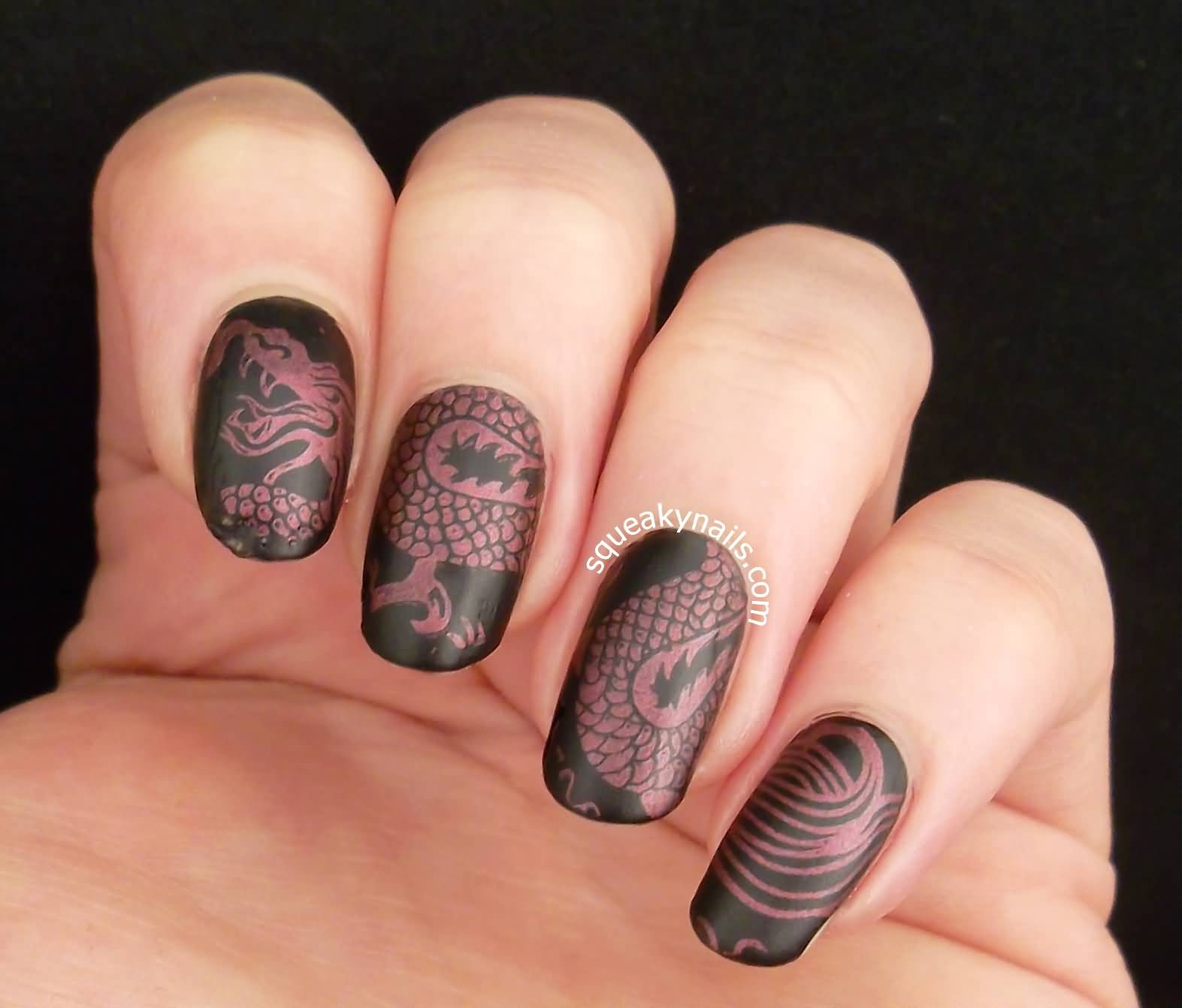 Chinese Dragon Nail Art - 35+ Most Stylish Chinese Nail Art Designs - Dragon Nail Art Graham Reid