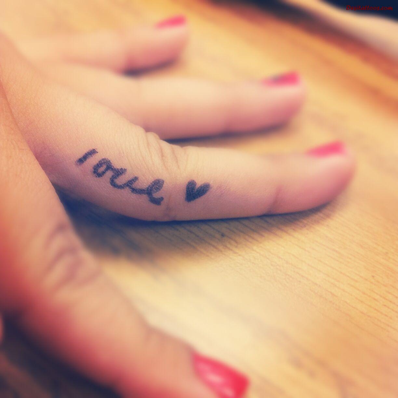 20+ Love Tattoos On Fingers