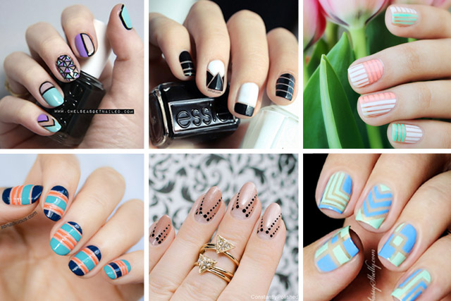 Different Negative Space Nail Art Designs