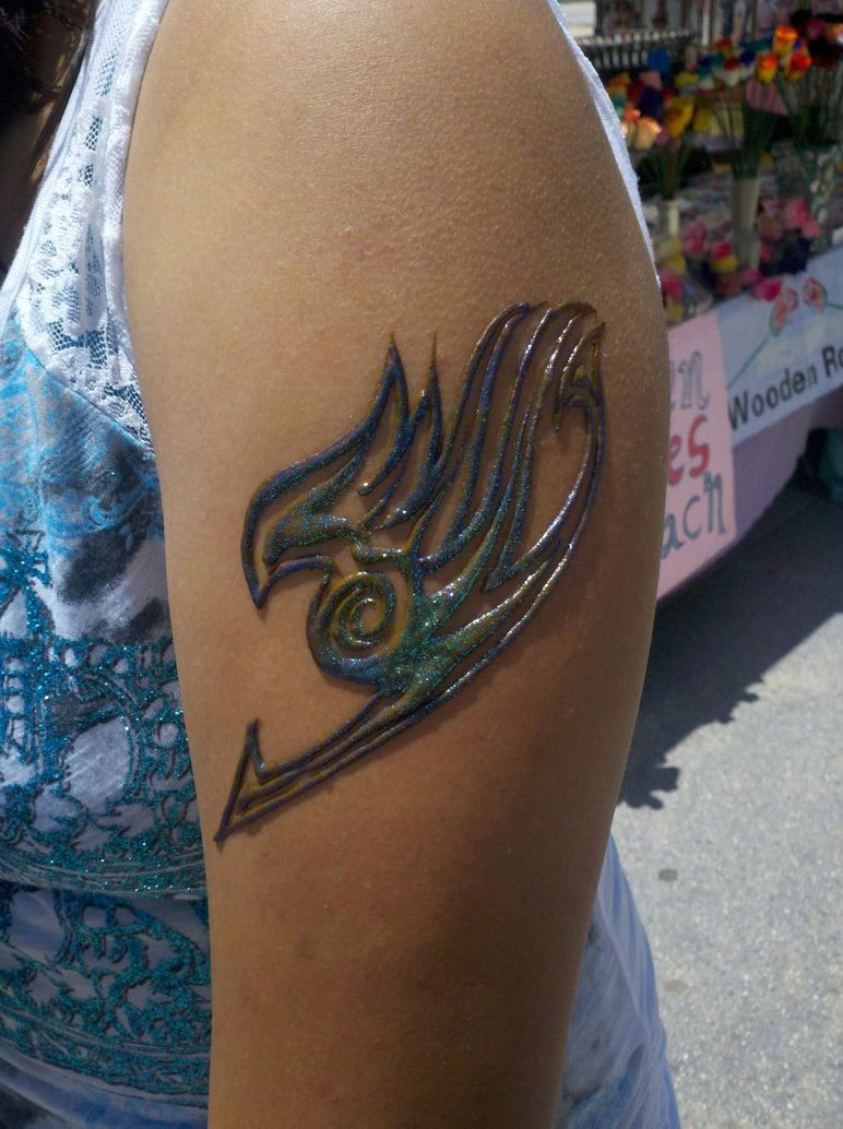 ee18ead38 Fairy Tail Henna Tattoo On Left Half Sleeve