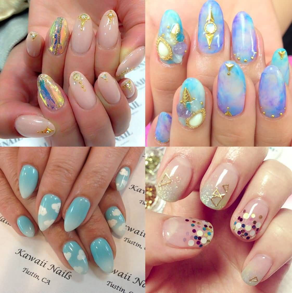 Four Japanese Nail Art Designs