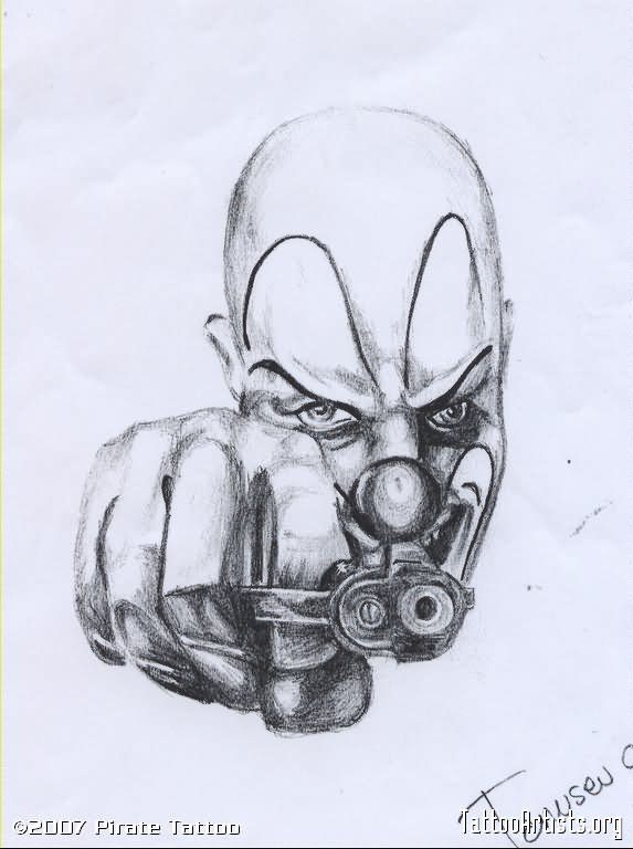21 gangsta clown tattoos and designs
