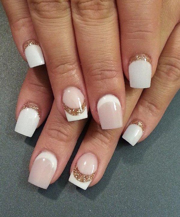 63 most beautiful half moon nail art design idea
