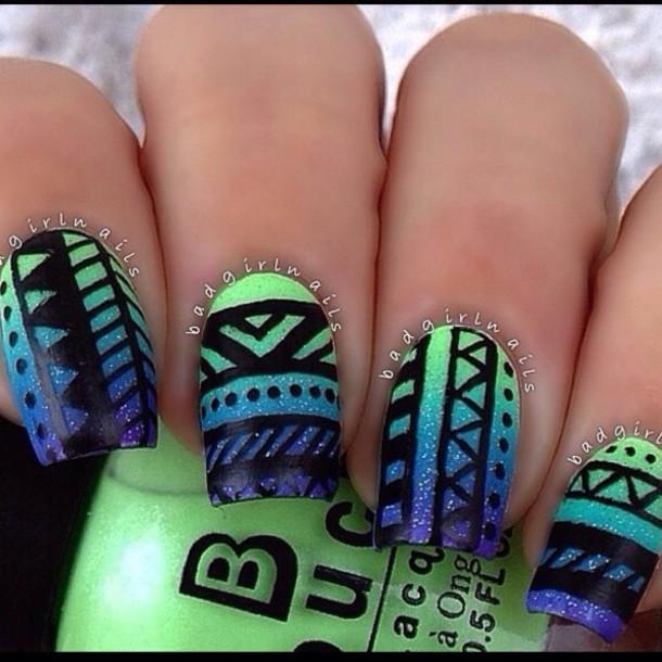 65 Most Beautiful Green Nail Art Design Ideas