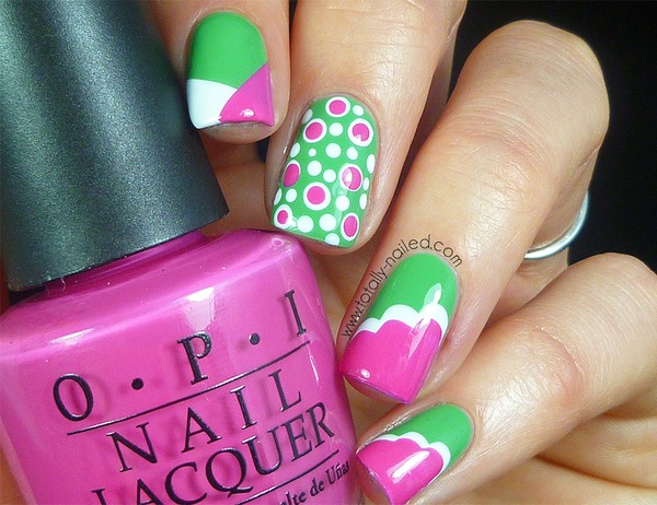 Pink and lime green nail designs best nail 2017 65 best green and pink nail art designs prinsesfo Image collections