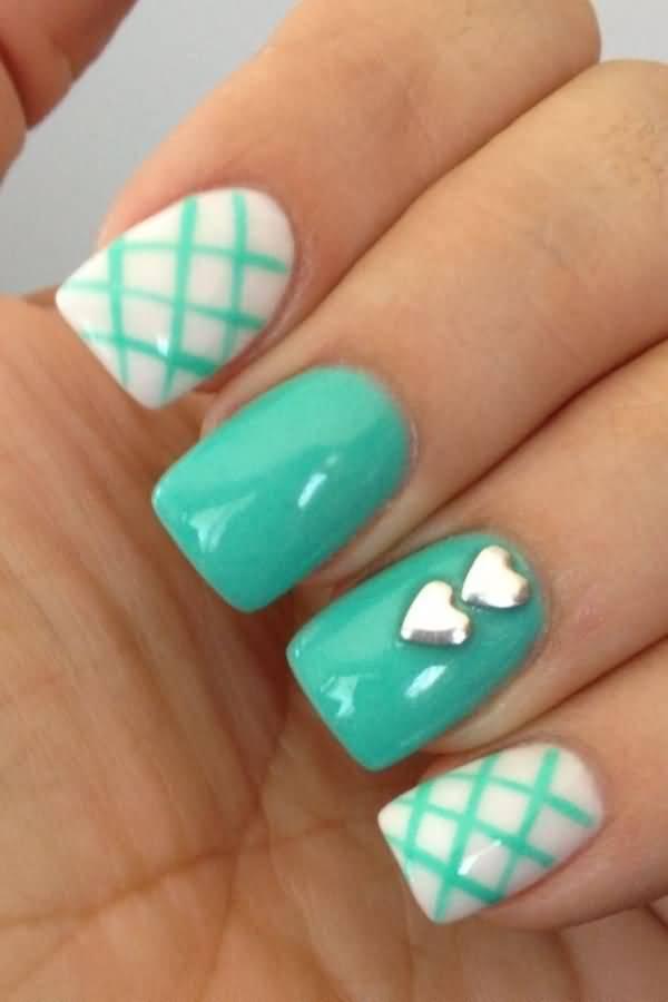 Fantastic Green And Silver Nails Collection - Nail Art Ideas ...